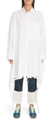 Loewe Tie Hem Oversize Cotton Shirt