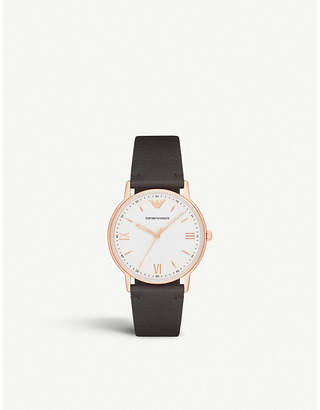 Emporio Armani AR11011 rose-gold plated stainless steel watch