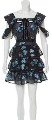 Self-Portrait Floral Tiered Dress w/ Tags