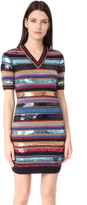 DSQUARED2 Short Sleeve Striped Dress $1,080 thestylecure.com
