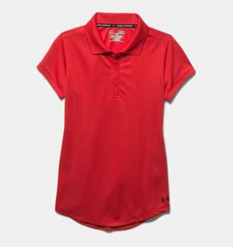 Under Armour Girls' UA Uniform Short Sleeve Polo – Pre-School