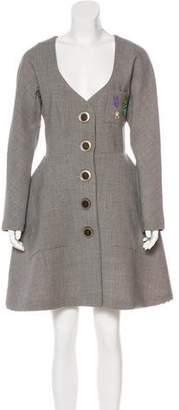 Natasha Zinko Embellished Wool Dress w/ Tags