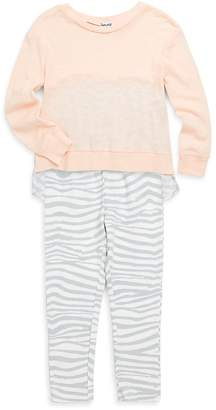 Splendid Little Girl's Two-Piece Zebra-Print Top and Pants Set