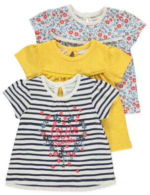George Print Tops Assorted 3 Pack