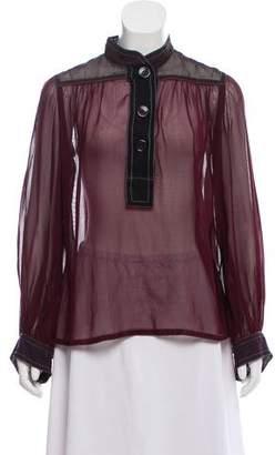 Louis Vuitton Silk Long Sleeve Top