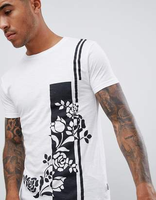 Soul Star rose stripe t-shirt