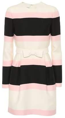 Valentino Wool and silk striped dress