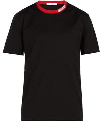 Givenchy Logo Embroidered Crew Neck T Shirt - Mens - Black