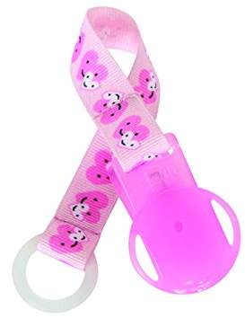 Esska Click Pacifier Holder (Pink Hearts)