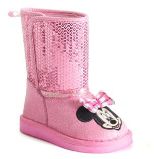 Disney's Minnie Mouse Toddler Girls' Glitter Boots $49.99 thestylecure.com