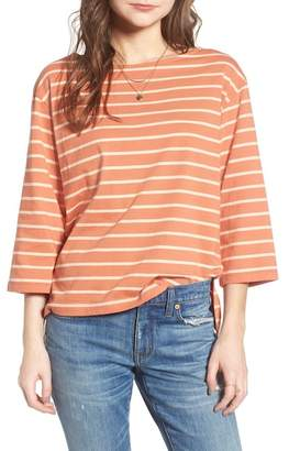 Madewell Stripe Boat Neck Top