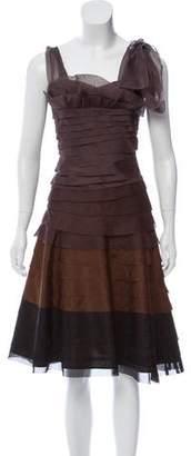 Oscar de la Renta Tiered Silk Dress