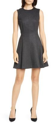 Theory Mela Seamed Sleeveless Fit & Flare Dress