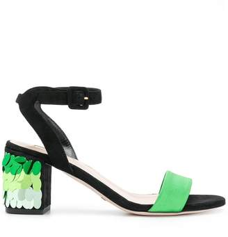 Sebastian sequinned heel sandals