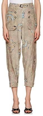 Mayle Maison Women's Genie Bird-Print Silk Pants