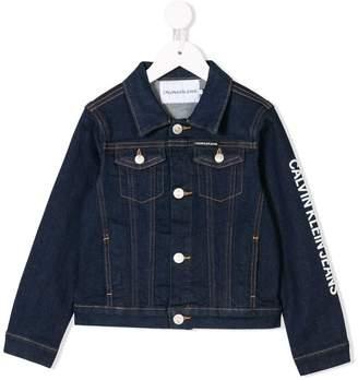 Calvin Klein Kids logo denim jacket