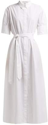 story. White Antonia Tie Fastening Cotton Shirtdress - Womens - White