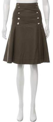 Nina Ricci Wool Knee-Length Skirt