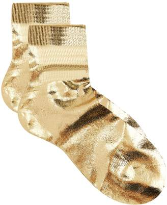 Maria La Rosa Laminated Metallic Socks