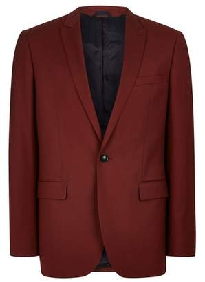 Topman Mens CHARLIE CASELY-HAYFORD X Red Suit Jacket