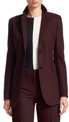 Akris Punto Flannel Tuxedo Stripe Wool Blazer