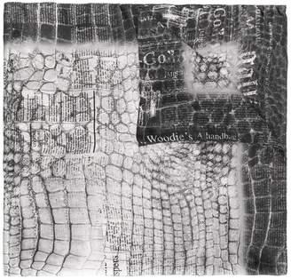 John Galliano crocodile-effect scarf