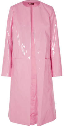 STAUD - Liam Faux Patent-leather Coat - Baby pink