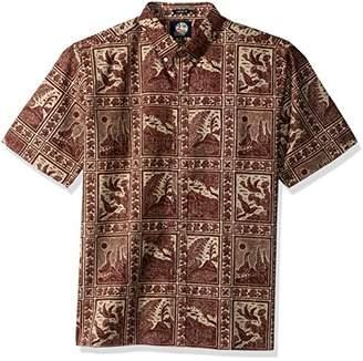 Reyn Spooner Men's Volcano Park Spooner Kloth Classic Fit Hawaiian Shirt