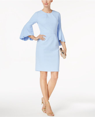 Betsy & Adam Bell-Sleeve Sheath Dress $199 thestylecure.com