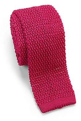 Charvet Men's Solid Knit Silk Tie