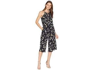 London Times Swirling Petals Crop Jumpsuit Women's Jumpsuit & Rompers One Piece