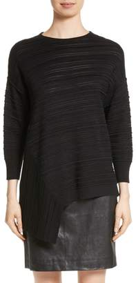 St. John Knit Asymmetrical Sweater