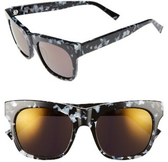 Women's Kendall + Kylie Cassie 54Mm Sunglasses - Black/ White Marble $145 thestylecure.com