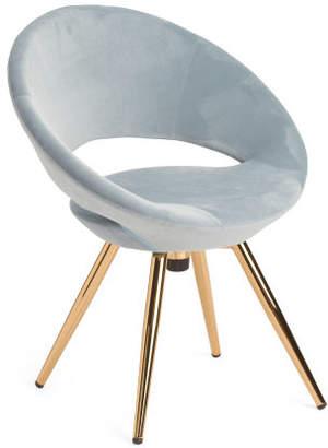Velvet Swivel Accent Chair