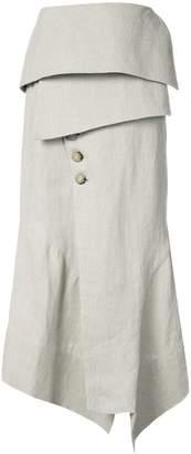 OSKLEN x Tarsila asymmetric skirt