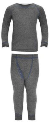 Watson's Double Layer Thermal 2-Piece Pant and Top Set in Grey