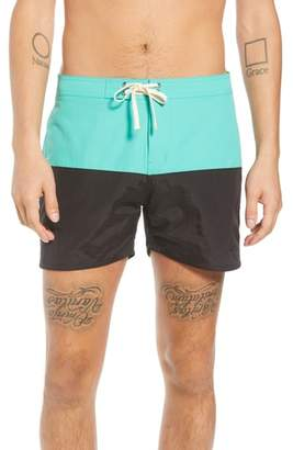 Saturdays NYC Ennis Colorblock Swim Trunks