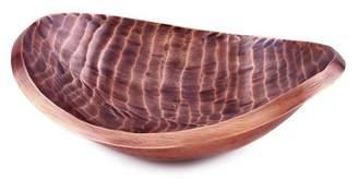 "Old Dutch Tribal"" Antique Copper Finish Aluminum Oval Bowl"