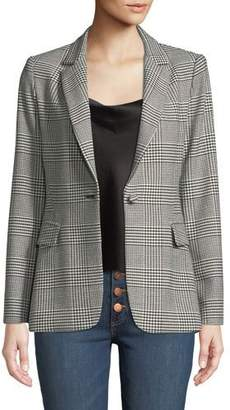 Alice + Olivia Macey Fitted Notch-Collar Blazer