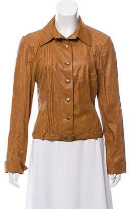 Christian Dior Notched-Lapel Leather Jacket
