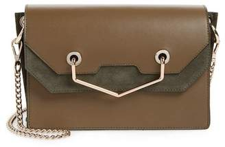 Topshop Premium Leather & Suede Soko Shoulder Bag