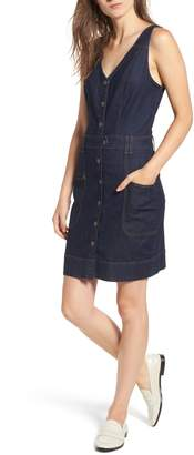 7 For All Mankind Denim Utility Minidress