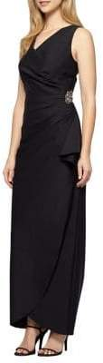 Alex Evenings Petite Sleeveless Sheath Gown