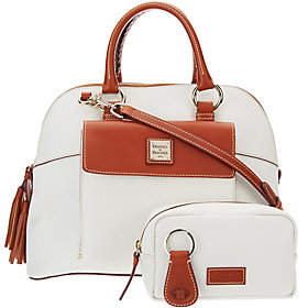 Dooney & Bourke Pebble Leather Aubrey Satchel with Accessories $296.90 thestylecure.com