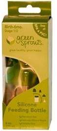 I Play I-Play Green Sprouts Bottle Silicone 6 Oz