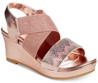 Kenneth Cole Reaction Reed Mamba Rose Wedge Sandals, Little Girls & Big Girls