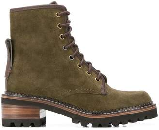 See by Chloe ankle laced-up boots