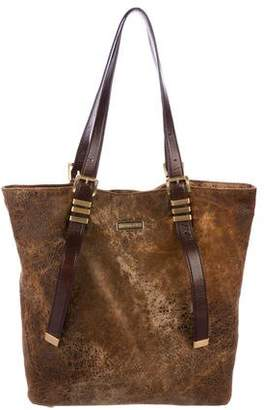 Michael Kors Suede Leather-Trimmed Tote