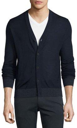 Theory Rothley Merino Wool Cardigan, Eclipse Multi $245 thestylecure.com