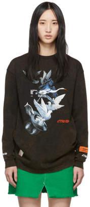 Heron Preston Black Doves Long Sleeve T-Shirt